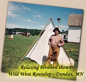 Lonesome Ron Yodeling by Teepee - Wild West Roundup, Dundas, Minnesota