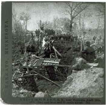 Train Wreck Near Kasota Minnesota 1875 - 1