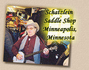 Lonesome Ron Yodeling with Banjo at Schatzlein Saddle Shop - Minneapolis, Minnesota