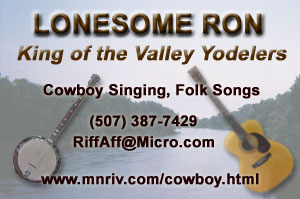 Lonesome Ron Yodeling Business Card