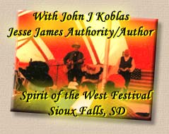 Lonesome Ron Yodeling with Jesse James Author/authority, John J Koblas - Spirit of the West Festival, Sioux Falls, South Dakota
