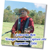 Cowboy singing and yodeling at the Capture of the Younger Brothers Site, Minnesota
